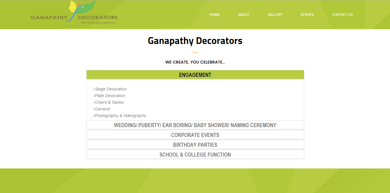 GANAPATHY DECORATORS