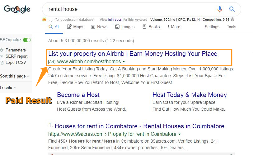 These ads are purely based on paid tools like PPC (Paper per Click) as the user willing to pay for a single visitor
